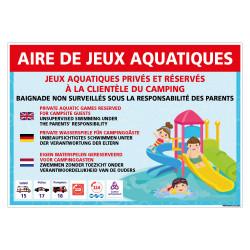 PANNEAU AIRE DE JEUX AQUATIQUES (H0490)