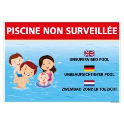 PANNEAU PISCINE NON SURVEILLEE (H0494)