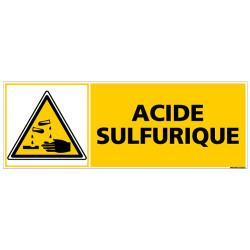 PANNEAU DANGER ACIDE SULFURIQUE (C0254)