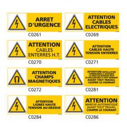 Panneau et Pictogrammes Signalisation danger electrique