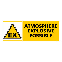 Panneau ATMOSPHERE EXPLOSIVE POSSIBLE (C0263)