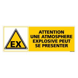 Panneau ATTENTION ATMOSPHERE EXPLOSIVE PEUT SE PRESENTER (C0265)