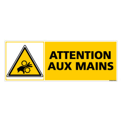 Panneau ATTENTION AUX MAINS (C0266)