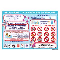 PANNEAU PERSONNALISABLE DU REGLEMENT INTERIEUR DE LA PISCINE (H0501-PERSO)