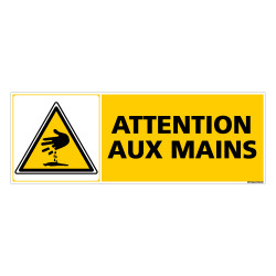 PANNEAU DANGER ATTENTION AUX MAINS (C0267)