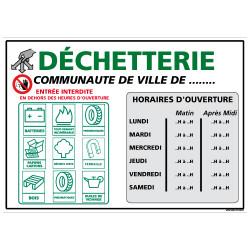 SIGNALISATION ENTREE DE DECHETTERIE (I0030)