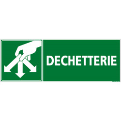 Panneau DECHETTERIE (I0063)