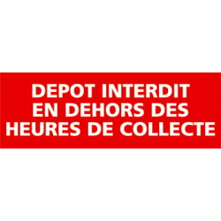 Panneau INTERDICTION DE DEPOT (I0220)