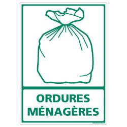 PANNEAU DECHETTERIE ORDURES MENAGERES (I0610)