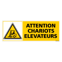 Panneau ATTENTION CHARIOTS ELEVATEURS (C0273)