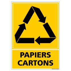PANNEAU RECYCLAGE PAPIERS CARTONS (I0856)