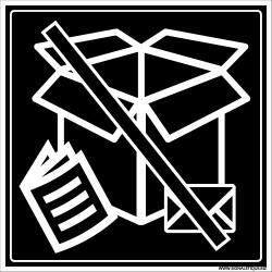 PANNEAU INTERDICTION DECHETS PAPIERS-CARTONS (I0858)