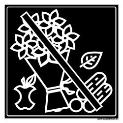 PANNEAU INTERDICTION DECHETS VERTS (I0864)