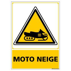 PANNEAU DANGER MOTONEIGE (C1444)