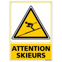 PANNEAU ATTENTION SKIEURS (C1446)