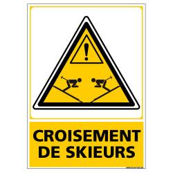 PANNEAU DANGER CROISEMENT DE SKIEURS (C1448)