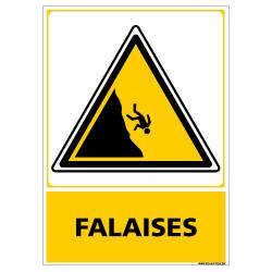 PANNEAU ATTENTION FALAISES (C1451)