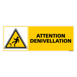 Panneau ATTENTION DENIVELLATION (C0276)