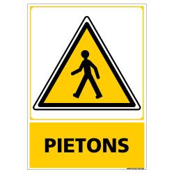 PANNEAU ATTENTION PIETONS (C1454)