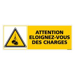 Panneau ATTENTION ELOIGNEZ VOUS DES CHARGES (C0277)