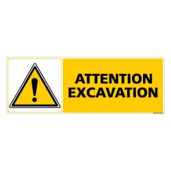 Panneau ATTENTION EXCAVATION (C0279)