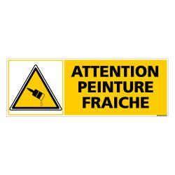 Panneau ATTENTION PEINTURE FRAICHE (C0291)