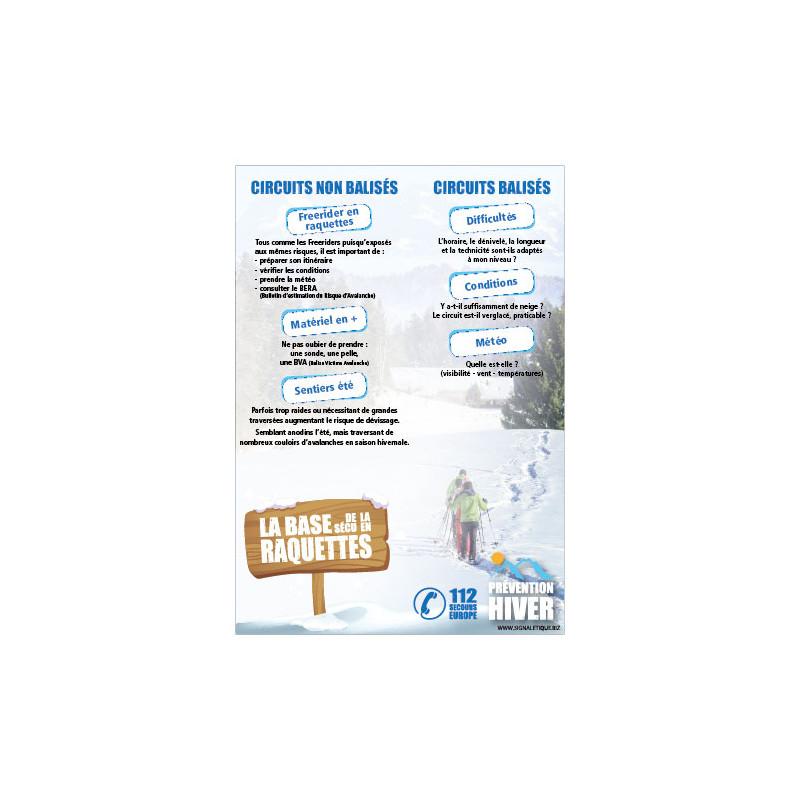 PANNEAU LA BASE DES RAQUETTES (H0426)