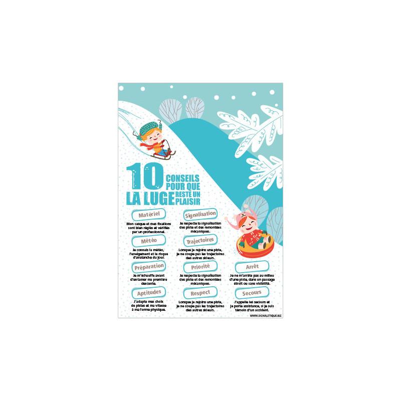 PANNEAU 10 CONSEILS POUR QUE LA LUGE SOIT UN PLAISIR (H0427)