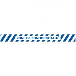 LOT DE 4 BANDES DE MARQUAGE AU SOL ZONE DE CONFIDENTIALITE (G1149)