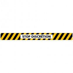LOT DE 4 BANDES DE MARQUAGE AU SOL STOP DISCRETION (G1157)