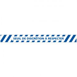 LOT DE 4 BANDES DE MARQUAGE AU SOL SEUIL DE DISCRETION A RESPECTER (G1158)