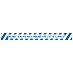 LOT DE 4 BANDES DE MARQUAGE AU SOL NE PAS FRANCHER CETTE LIMITE (G1159)
