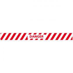 LOT DE 4 BANDES DE MARQUAGE AU SOL DANGER (G1161)