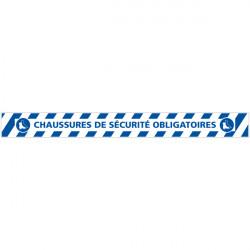 LOT DE 4 BANDES DE MARQUAGE AU SOL CHAUSSURES DE SECURITE OBLIGATOIRES (G1162)
