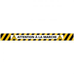 LOT DE 4 BANDES DE MARQUAGE AU SOL ATTENTION A LA MARCHE (G1164)