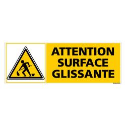 Panneau ATTENTION SURFACE GLISSANTE (C0308)