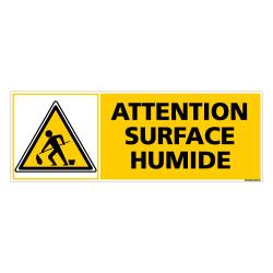 Panneau ATTENTION SURFACE HUMIDE (C0309)