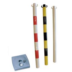 Poteau PVC sur socle lester