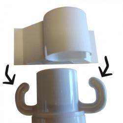 Bouchon support permettant la fixation d'un panneau PVC sur poteau PVC (W0027)
