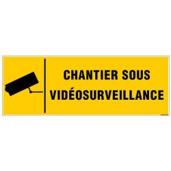 Panneau CHANTIER SOUS VIDEOSURVEILLANCE (G1123)