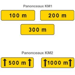 Panonceaux type KM1 et KM2