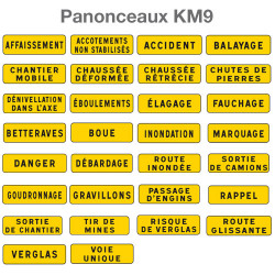 Panonceaux type KM9