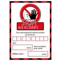 Panneau STOP AUX ACCIDENTS (A0338)