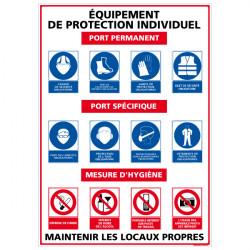 Panneau EQUIPEMENT DE PROTECTION INDIVIDUELLE (A0348)