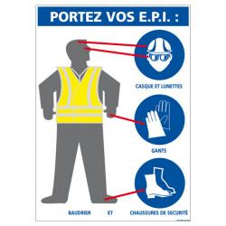 """CONSIGNES DE SECURITE """"PORTEZ VOS E.P.I."""" (A0359)"""