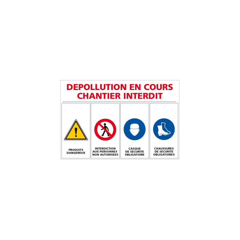 Panneau de chantier dépollution en cours (A0360)
