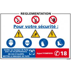 Panneau consignes de sécurité réglementation (A0363)