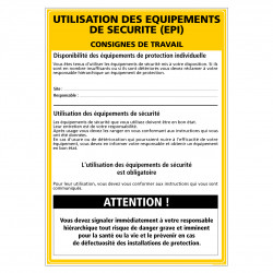 Panneau CONSIGNES E.P.I. (A0414)