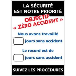 """Panneau d'affichage """"La sécurité est l'affaire de tous"""" (A0588)"""