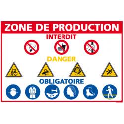 Panneau consignes de sécurité zone de production (D0551)